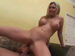 Hot Blonde Creampie - Threesome