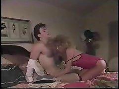 Retro Blonde Hottie Rides Cock