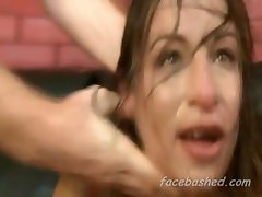 Amber Rayne about to get face bashed by several angry men