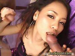 Cum Injected Japanese Ass Hole part4
