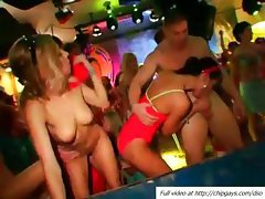 Many drunk horny girls love to fuck in the dancing club