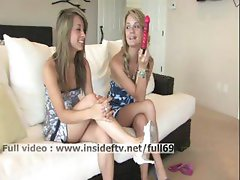Sara and Rilee _ Amateur lesbian babes talking about sex