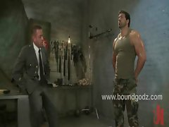 Tyler interrogates and screws bound Vince