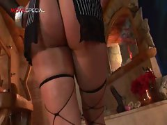 Amazing pierced snatch Mommy fellatio