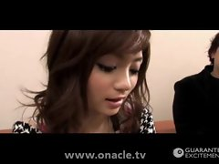 Hussy Raunchy teen Japanese amature young lady gets fellatio and screwing rough stunning rui