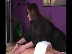 Luscious butch gets a sensuous massage