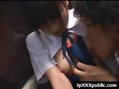 Lewd 18 years old Sensual japanese randy chicks Fuck In Public video-05