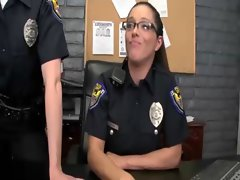 Femdom officers brutal up the criminals