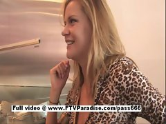 Lisa ingenious sensual blond flashing