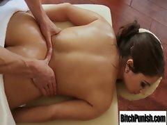 Filthy Bigtits Models Get Banged By Masseur clip-21
