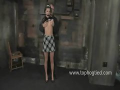 Sexual sassy Roxy DeVille gets hogtied