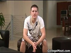 Chad Macon jerking his sensual college shaft gay video
