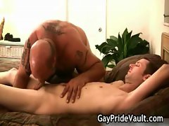 Unshaved homosexual teddy making out sext gay porno