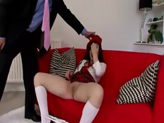 Cheeky schoolgirl english fuck
