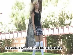 Aexa funny blond naked outdoor
