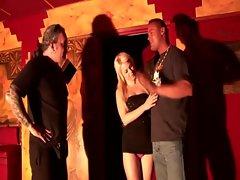 Tempting blonde harlot devours a tourists prick