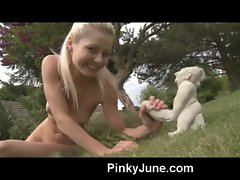 19 years old and playful saucy teen gets so sensual outdoors