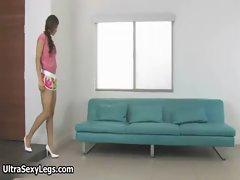 Sensual sizzling teen girlie in sensual