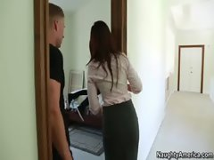India Summer accepts a hammering from her son's friend