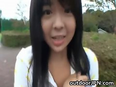 Anri Nonaka Asian filthy young lady in outdoor
