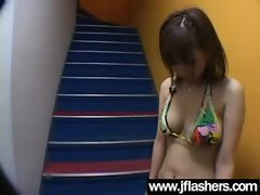 Asian Lasses Flashing Hooters And Getting Banged vid-18