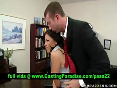 Halie James seductive teen dark haired chick gets banged