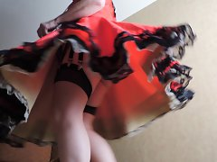 Sissy Ray in Red Sissy dress in hotel 2