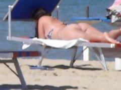 Latin big round butt beach