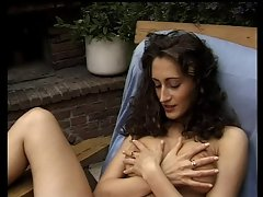 european dark haired gardenfuck
