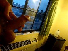exposed motel window cum