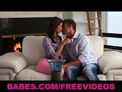 Skinny 19yo tart Veronica Rodriguez makes love to her man