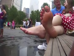 Candid feet soles