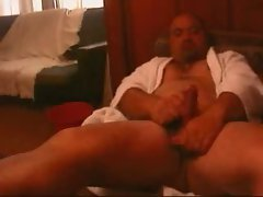 Jack Off in White Robe