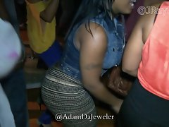 Naughty bum in The Club - Lasses in Leggings
