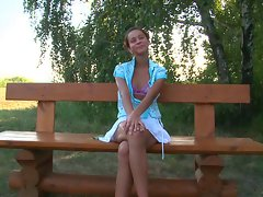 Sassy teen banged in the park