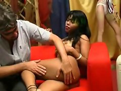KRISS Naughty ebony ( audition, lap dance and buggered)