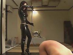Femdom Kitagawa worshipping latex domina