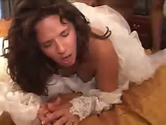 Dark haired Bride Interracial