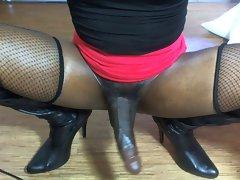 Hung Ladyboy Solo Webcam Masturbation: Sex Object Vol1.