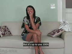 Casting HD Business class dark haired banged senseless