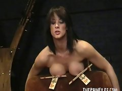 Amateur bdsm and big tit torture of sado masochistic Danii