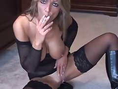 Blond Smoking and Fingering 2