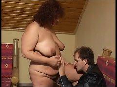 Big tit attractive mature licks it clean