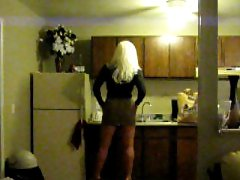 Transvestite Tart Stuffing Bum