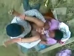 Seductive indian chap screws young woman outdoor