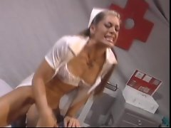 Nurse Aria getting banged wild and squirts