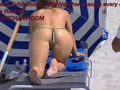 Heather Brings Her Talents To South Beach! Snatch Slip Time!
