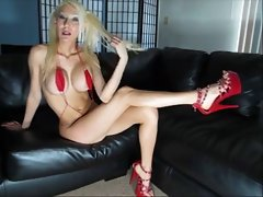 Tempting blonde princes JOI with CEI