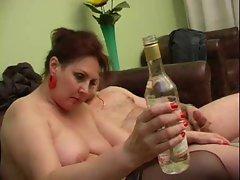 Olga drinks