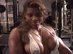 Luscious naughty ebony workout